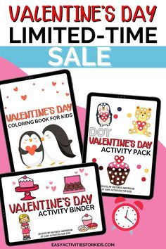 Valentine's Day Toddler Activity Pack, bundle sale toddler activities for valentine's day, preschooler activity pack (affiliate) Easy Toddler Crafts, Valentine's Day Crafts For Kids, Toddler Activities, Valentines Day Activities, Valentines Day Party, Valentines For Kids, Valentines Day Coloring, Valentine's Day Printables, Cards For Friends