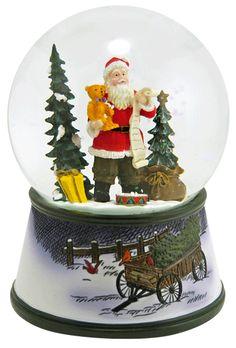 Santa's Christmas List snowglobe  from snowdomes.com