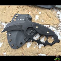 Shadow Tech Knives Vortex Dagger Karambit Fixed Blade Knife (3 In. 1095 Black) Micarta | OsoGrandeKnives