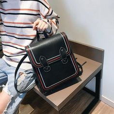 High Quality Multifunction Backpack Mochila 2018 Leather Women Backpack Casual Backpacks For Teenager Girls School Bags Outfit Accessories From Touchy Style. Cute Backpacks For College, College Bags For Girls, Fashionable Backpacks For School, Cute Mini Backpacks, Trendy Backpacks, Backpack Bags, Leather Backpack, Fashion Backpack, Weekender Bags