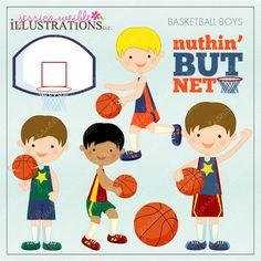 Basketball Boys - Cliparts - Mygrafico.com