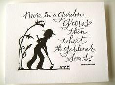 Spring Letterpress Prints by Tag Team Tompkins - Paper Crave Garden Quotes, Garden Poems, Garden Signs, My Secret Garden, Letterpress Printing, Dream Garden, Yard Art, Paper Cutting, Cut Paper