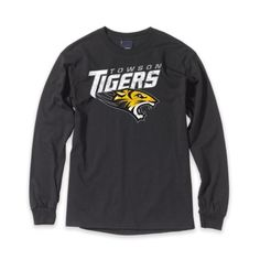 #Towson #cold #cozy #long sleeve only at 208 York Rd. Towson, MD 21204 for $19.99 Towson Tigers, Towson University, Cozy, Long Sleeve, Sleeves, Mens Tops, Stuff To Buy, Black, Art