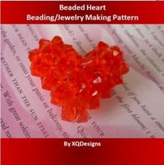 Beaded Heart Beading/Jewelry Making Pattern l2 - http://www.diybeadingclub.com/amember/aff/go?r=5
