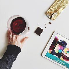 Always a winning treat - wine and chocolate! (via @thefauxmartha)