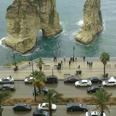 Raouché, Lebanon Lebanon Culture, Beirut Lebanon, Beach Trip, Asia Travel, Middle East, Nature Photography, Beautiful Places, Scenery, Places To Visit