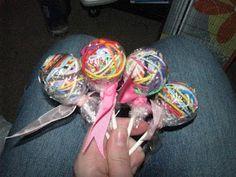 Hair Tie Lollipops!