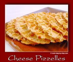 Cheese Pizzelles Cheddar recipe