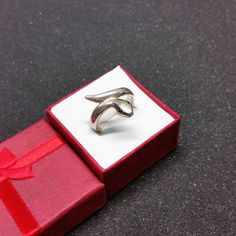213 mm Ring Silber 935 Schlange Augen Kristalle blau SR906