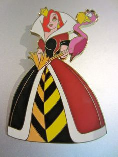 Disney Jessica Rabbit as Alice in Wonderland Queen of Hearts Jumbo Pin LE 300 in Other | eBay