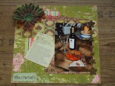 Scrapbook layout Brownies