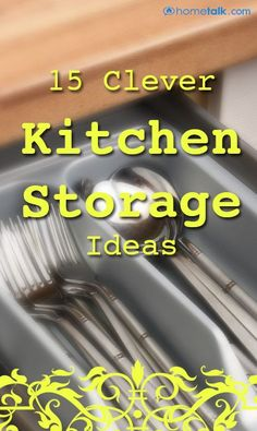 15 Clever Kitchen Storage Ideas! - #home decor ideas #home design - yourhomedecoridea...
