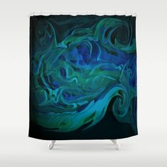 "Stop neglecting bathroom decor - our designer Shower Curtains bring a fresh new feel to an overlooked space. Hookless and extra long, these bathroom curtains feature crisp and colorful prints on the front, with a white reverse side. - One size: 71"" (W) x 74"" (H) - Made in the USA with 100% polyester - 12 buttonhole-top for easy hanging - Machine washable, tumble dry - Rod, curtain liner and hooks not included Custom Shower Curtains, Bathroom Curtains, Hooks, Crisp, Colorful, Space, Usa, Abstract, Artwork"