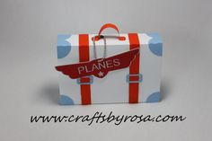 Suitcase Favor Box for Planes party by CraftsbyRosa>>>>Tell your ARIZONA FRIENDS that the LEFT SEAT WEST, an AVITATION THEMED restaurant in Glendale, Arizona is a great place for their next party! Check out our Facebook page! http://www.facebook.com/pages/Left-Seat-West-Restaurant/192309664138462