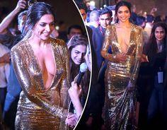 Deepika Padukone wows in plunging gold dress [Getty] Indian Bollywood Actress, Bollywood Actress Hot Photos, Indian Actress Hot Pics, Most Beautiful Indian Actress, Beautiful Actresses, Indian Actresses, Priyanka Chopra Wedding, Deepika Padukone Hot, Deepika Ranveer
