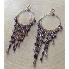 Purple Ombré Earrings Super cute purple ombré earrings on a gold plated hoop. No trades. No PayPal. No asking lowest price please :)  Jewelry Earrings