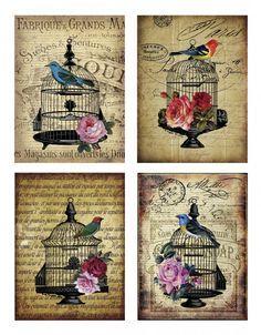 Sheet vogels nostalgie | ~Dieren | Nostalgie & Brocante