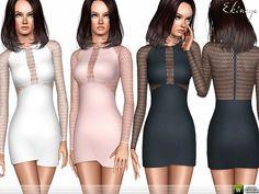 ekinege's Lace Panel Mini Dress