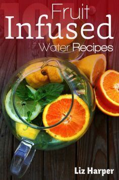Fruit infused water combines the health benefits and taste of fruits, herbs and vegetables with water. Also known as vitamin water, it allows you to replace sodas, juice and other sugary beverages with healthy drinks that are just as delicious. Infused Water Recipes, Fruit Infused Water, Fruit Water, Infused Waters, Juice Smoothie, Smoothie Drinks, Smoothies, Healthy Recipe Books, Healthy Recipes