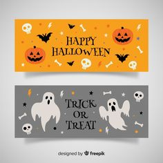 More than 3 millions free vectors, PSD, photos and free icons. Exclusive freebies and all graphic resources that you need for your projects Halloween Orange, Sac Halloween, Halloween Logo, Happy Halloween Banner, Halloween Balloons, Halloween Clipart, Halloween Trick Or Treat, Creepy Halloween, Halloween Night