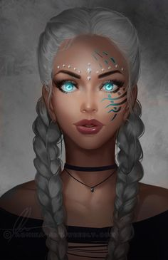 Female fantasy character inspiration - Another! Character Portraits, Character Art, Character Ideas, Digital Art Girl, Digital Art Fantasy, Wow Art, Fantasy Inspiration, Female Character Inspiration, Story Inspiration