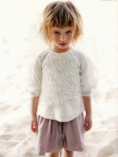 cute little girls outfit. and look at the expression on this little girl?! future top model? maybe~