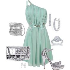 """""""silver"""" by fluffof5 on Polyvore"""