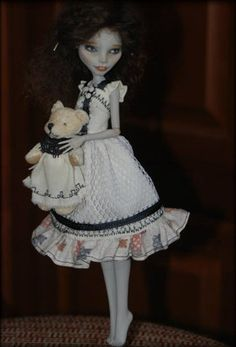 OOAK Monster High Art Doll Ghulia Yelps Repaint | eBay