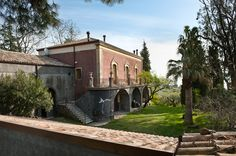 Monaci delle Terre Nere is an nobiliary villa & luxury boutique hotel on the slopes of Mount Etna looking out to the Mediterranean in Sicily, Italy. Hotel Boutique, Small Boutique Hotels, Small Hotels, Design Hotel, House Design, Catania, Hotel Et Spa, Bangkok, Piscina Hotel