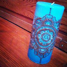 #décoration #chandelle #henna #art