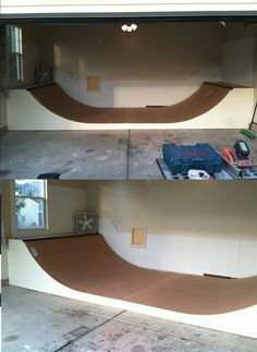 "Garage mini ideas. Nice Mini ramp. The best idea for a garage. Outside cars. My parents do not like the idea. ""hahahaha"""