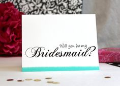 Asking Bridesmaid Card Modern Will You Be my Bridesmaid by #patternedpomegranate #inked #colorededge #askingbridesmaid #wedding #askingmaidofhonor #askingflowergirl