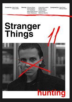 Poster Stranger Things Helvetica