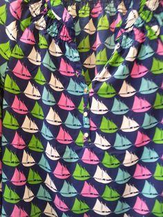 Sailboat repeat shirt, love!
