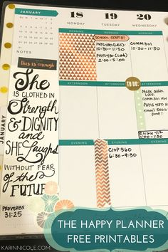 How I use The Happy Planner- with free printables! #glam #planner #thehappyplanner