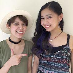 WEBSTA @ ayap0117 - 青野紗穂さんご来店☺︎♪@sahoaono グレーのグラデーションにブルーのインナーカラーで夏っぽく🌻hair color by…