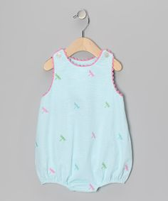 Take a look at this Blue Dragonfly Bubble Bodysuit - Infant by K on #zulily today!