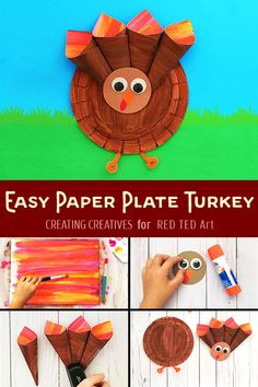 Easy Paper Plate Turkey Craft For Preschoolers How To Make A