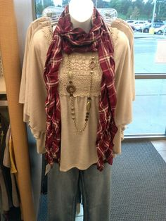 Cato Fashions #fall #trends #plaid #scarf
