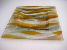 "A ""Wave"" platter, created to match a customer's glass splashback."