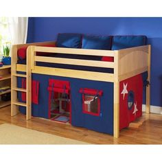 Loft style bed for Brady's new room.
