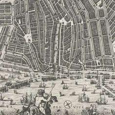 Plattegrond van Amsterdam met het ontwerp van de stadsuitbreiding van Daniel Stalpaert, Daniel Stalpaert, 1657 - Rijksmuseum