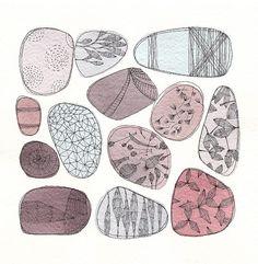 Pebbles Original watercolour painting inches by FrancescaLancisi