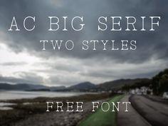AC Big Serif Font Free Download