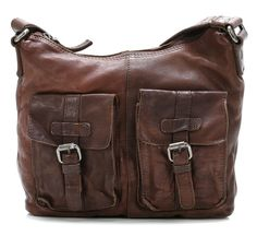 Dakota Cross Body Bag Leather chocolate 26 cm
