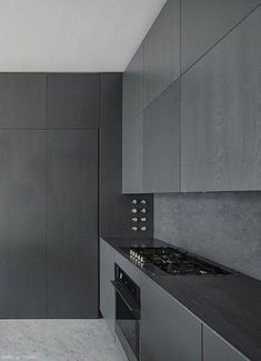 40 Handsome Gray Kitchen Design Ideas Who would've ever though the kitchen could be the key to building wealth in your home? Well, it is. Grey Kitchen Designs, Modern Kitchen Design, Interior Design Kitchen, Grey Kitchen Cabinets, Kitchen Countertops, Küchen Design, Design Ideas, Cuisines Design, Cabinet Colors