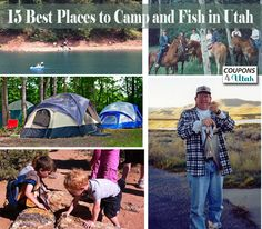 Best Camping and Fishing Spots in Utah. I don't camp or fish much, but I've still managed to get to about half of these places and they really are great.