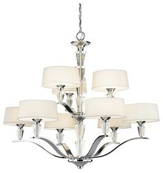 Kichler Crystal Persuasion 2 Tier Chandelier in Chrome - Transitional - Chandeliers - Hansen Wholesale