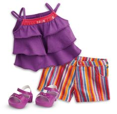 Ropa American Girl, American Girl Doll Julie, American Girl Clothes, Bitty Baby Clothes, Doll Clothes Barbie, Barbie Toys, American Girl Wellie Wishers, Our Generation Dolls, Stars