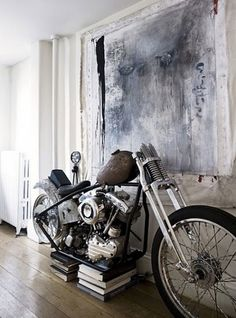 When I first saw my cousin's Harley motorcycle in his dining room, I immediately thought that it would only stay in the house as long as he was single